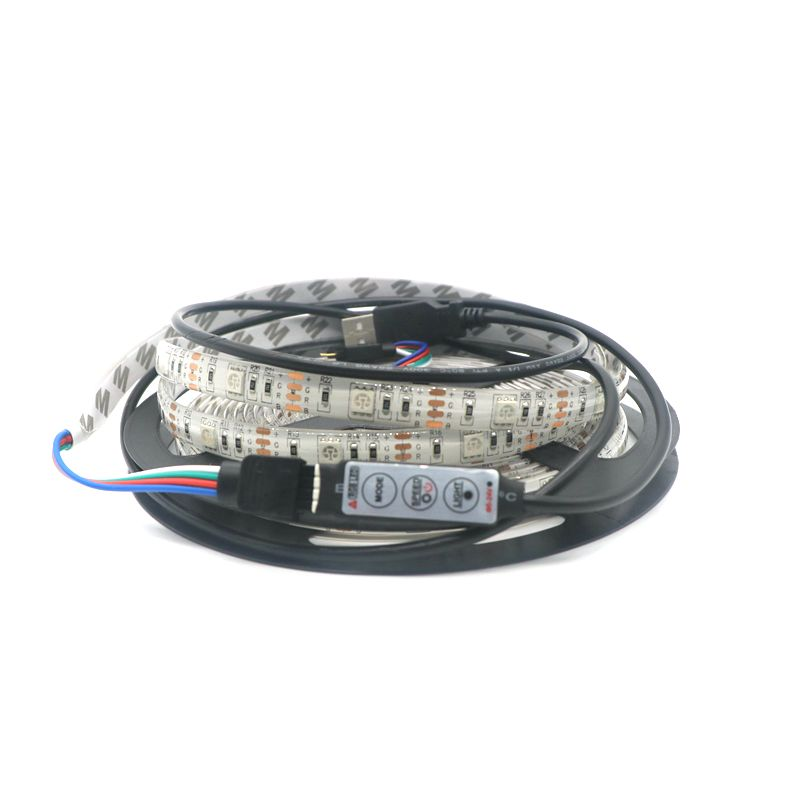 5M/lot USB LED Strip Light 5V 5050 SMD IP65 Waterproof RGB 150 Leds 5M Flexible TV Background Lighting Strip(China (Mainland))