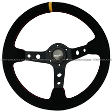 MOMO Deep Dish Suede Leather Steering Wheel Racing Steering Wheel 14 inch(China (Mainland))