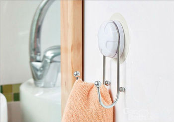2013 TBG suction wall hooks  Kitchen Double Robe Hooks stainless steel  wall door hook hanger