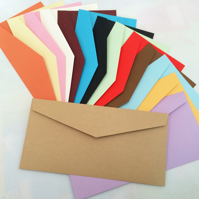 14 Color Blank Envelopes 220X110mm Envelopes 120GMS Greeting Cards Envelopes 100PCS<br><br>Aliexpress