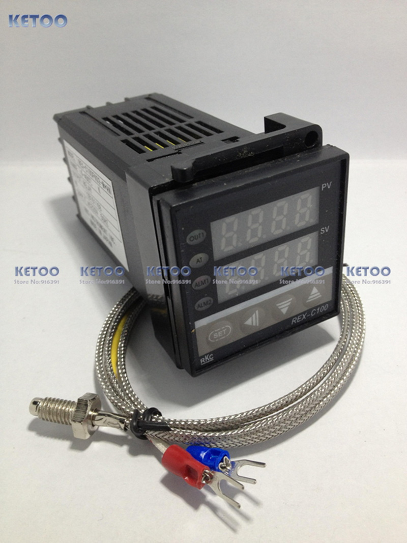 Dual Digital PID Temperature Controller REX-C100 with thermocouple K, Relay Output(China (Mainland))