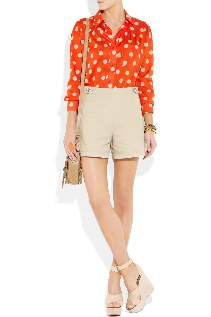 Alexa Chung Street Style,Designer Red Polka Dot Blouse,Women Big Spot cotton-voile shirt Plus Size XL,XXL Top Free Shipping