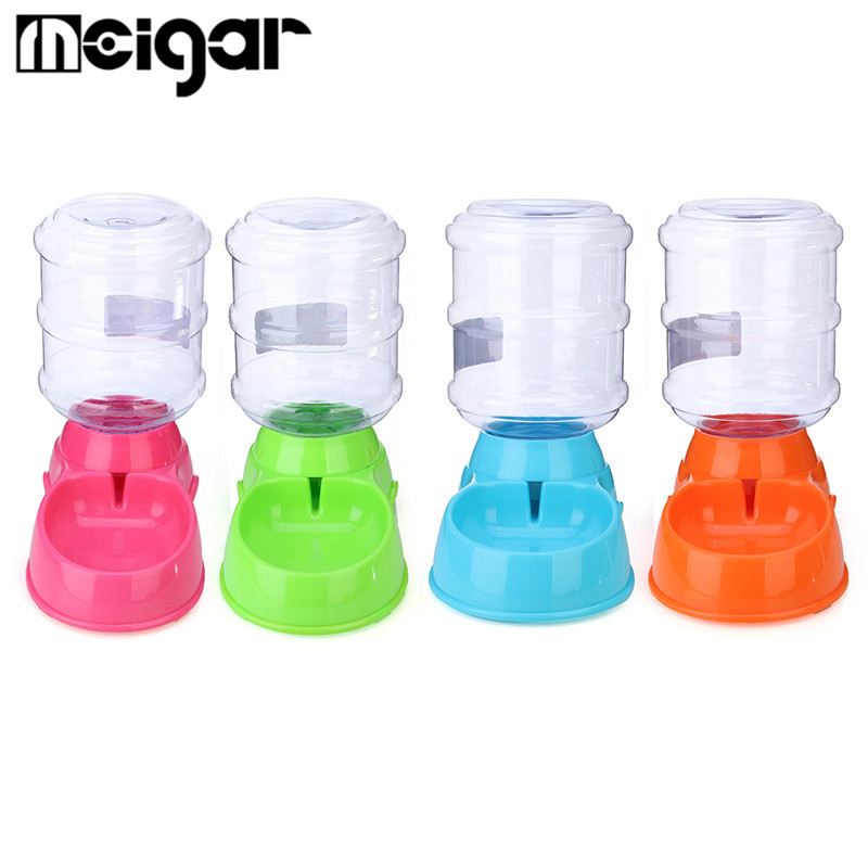 3.5L Large Bottle Automatic Pet Drink Dispenser Dog Cat Feeder Water Bowl Dish Portable Pet Puppy Feeding Tools Supplies(China (Mainland))