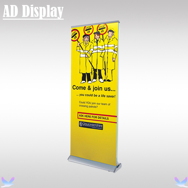 85*200cm Double Side Wide Base Aluminum Roll Up Display Stand,Tradeshow Exhibition Advertising Banner Equipment,Pull Up Stand(China (Mainland))