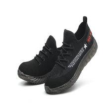 Mannen Stalen Neus Veiligheid Werkschoenen Toevallige Ademende Outdoor Sneakers Punctie Proof Laarzen Comfortabele Industriële Schoenen voor Mannen(China)