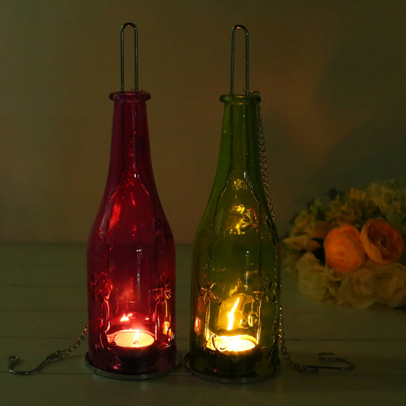 Eco Friendly Recycle Wine Bottle Tealight Candle Holder