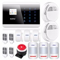 English Russian French Spanish Voice APP IOS Android GSM GSM PSTN Home Alarm Security System Touch