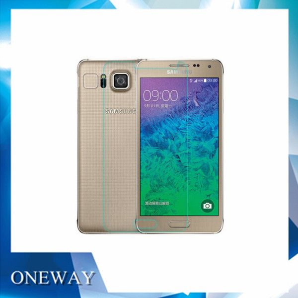 10 0.3mm 2.5D Explosion-proof Premium Tempered Protector Cover Glass Film Samsung Alpha G850 Retail Package - ONEWAY Technology Co.,LTD store