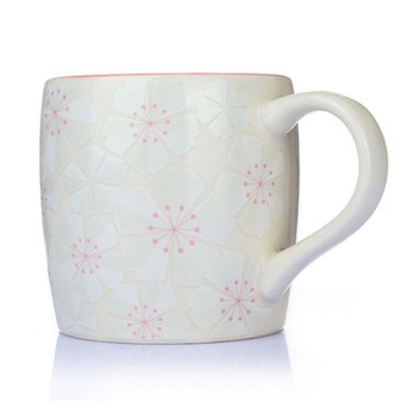 Japan Style Cherry Blossom Sakura Ceramic Mug 355 ML / 12oz Elegant Travel Coffee Mugs Cute Coffee Cups Beautiful Tea Milk Cup(China (Mainland))