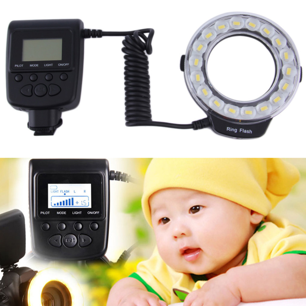 New  RF-600E 18 pcs LED Ring Flash for Nikon for Canon for Sony DSLR cameras Wholesale<br><br>Aliexpress