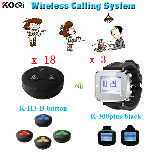 Fast food restaurant equipment remote control transmitter paging system wrist pager waiter calling system guest call button(China (Mainland))