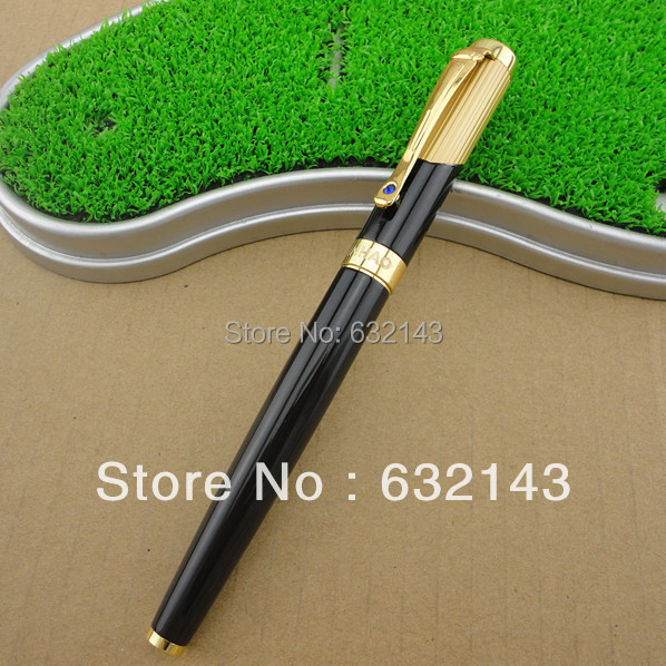 Jin Hao pen Monalisa 9009 black and gold Roller Ball Pen. Free shipping(China (Mainland))