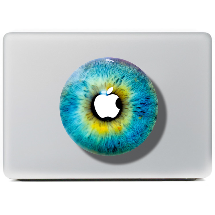 DallowayCabin New Design Colorful Laptop Protective Skin 3D Pupil Eye Sticker Decal for Macbook 11 12 13 15 inch(China (Mainland))