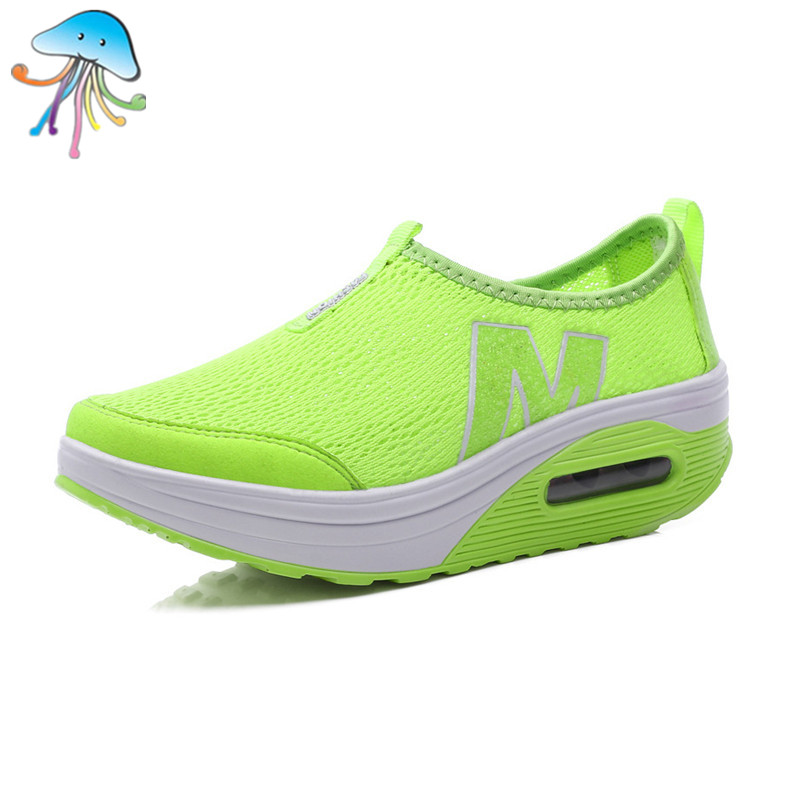 New Women Casual Shoes Colorful Breathable Fashion Leisure Canvas Comfortable Summer Female Height Increasing Lightweight Shoes(China (Mainland))
