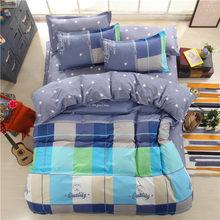 Home Textile Whale Cartoon Gray Duvet Cover Pillowcase Flat Bed Sheet Kid Child Teen Boy Girl 3/4pcs King Size Bedding Linen Set(China)