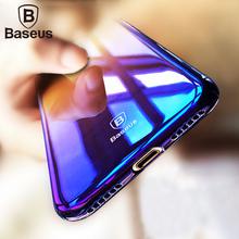 Baseus Original Case For iPhone 7 Luxury Aurora Gradient Color Transparent Hard PC Phone Case For Apple iPhone 7 Plus Cover(China (Mainland))