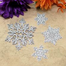 4pcs Christmas Snowflake Metal Die cutting Dies For DIY Scrapbooking Photo Album Embossing Folder Stencil Die Cut KW672204(China (Mainland))
