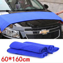 Soft Blue Microfiber Cleaning Towel Car  Wash Dry Clean Cloth 160*60cm(China (Mainland))