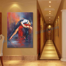 Wall Art Painting Pictures Decor Hand Painted Tango Nuevo II Oil Painting Repros by Pedro Alvarez Modern Design Christmas Gift(China (Mainland))