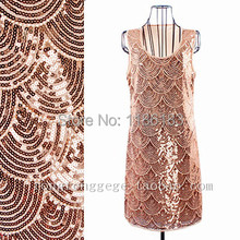 Art Deco Great Gatsby 1920s Style Vintage Flapper Scallop Charleston Dress Beaded Mini Dress(China (Mainland))