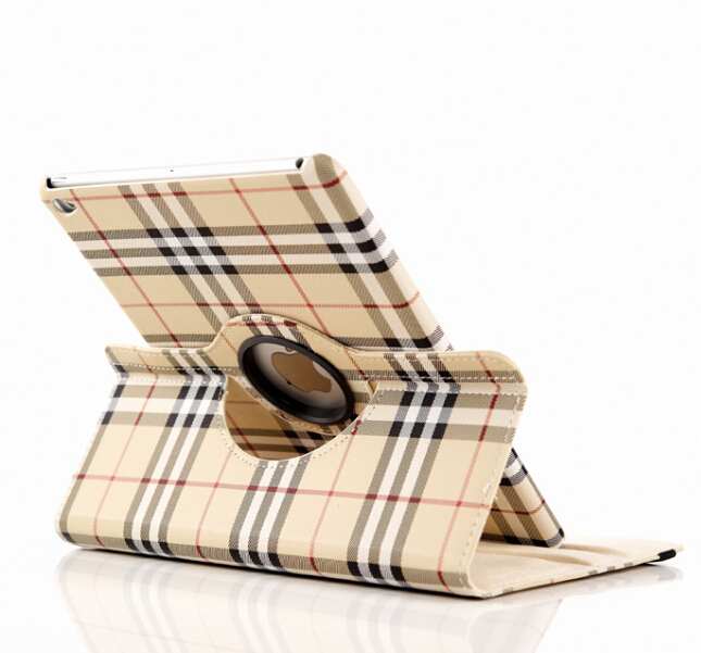 1PCS Free Ship font b Tartan b font case for Ipad 2 3 4 PU leather