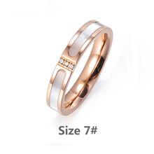 Lokaer קלאסי טיטניום פלדה לבן מעטפת שרשרת טבעות צמידי כלה סטי CZ קריסטל חתונה להקות תכשיטי לנשים SE030(China)