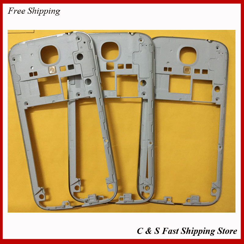 Replacements Original Middle Bezel Frame Plate For Samsung Galaxy S4 I9500 i9505 i337 Housing With Side button Key(China (Mainland))