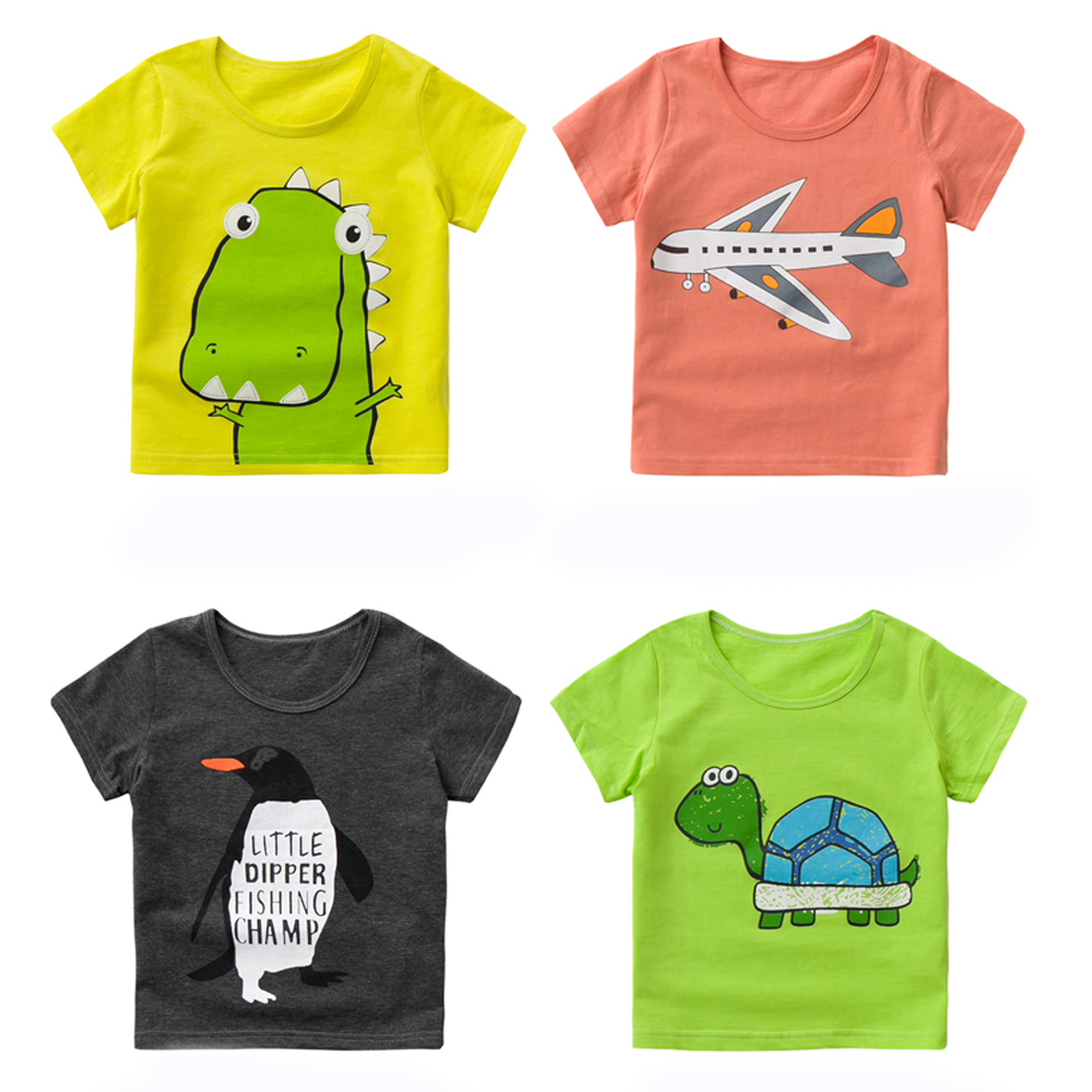 2016 summer boys girls unisex T shirt character cotton soft fashion sports causual school party solid new style animals print(China (Mainland))
