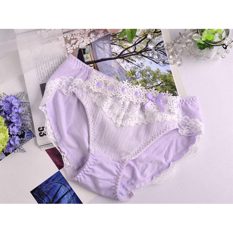 2016 Princess Japanese foreign trade original single aqueous Lei mesh yarn folding girls underwear cotton briefs Ms. f1-08(China (Mainland))