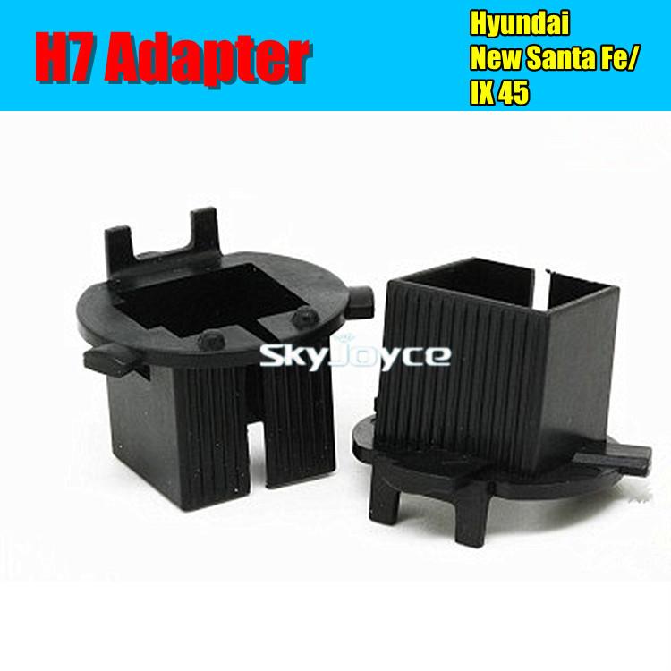 2 Xblack H7 hid bulb holder base adapter socket for Hiday New Santa HID H7 BASEMENT headlight car parking Accessories(China (Mainland))