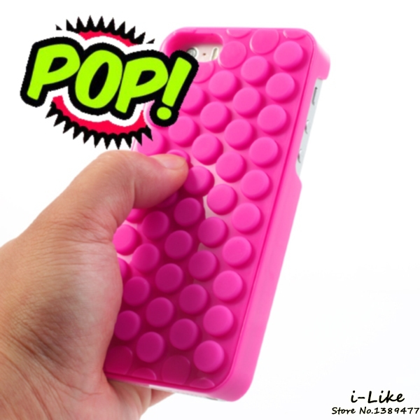 2015 Hot Selling Reduce Stress Novelty PoP Sound Bubble Wrap Case Shell for iPhone 5s 5 Interesting Gadget(China (Mainland))