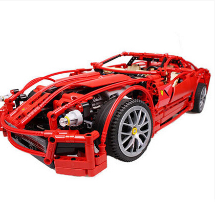 decool 3333 599GTB Building Blocks Toy 1:10 car model Supercar red assemblage legoe F1 Racing brain game gift(China (Mainland))