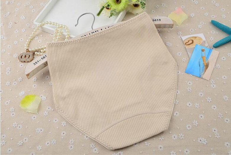 Woman cotton underwear Women's high waist cotton briefs Embroidery printing large size underwear 10colors  M-2X