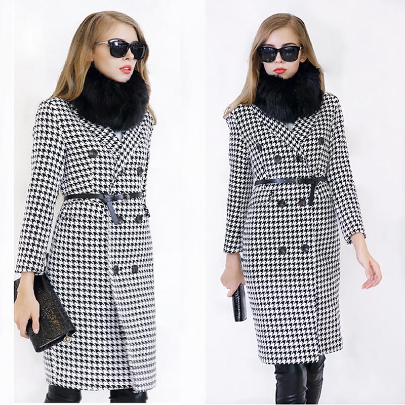 Black And White Coats Ladies