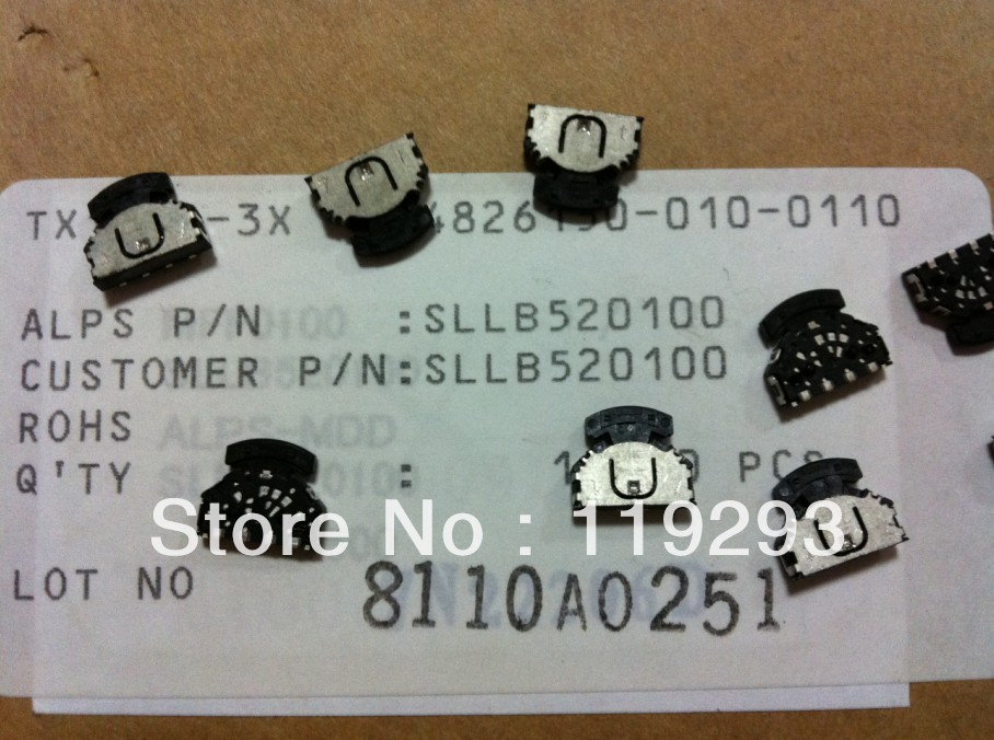 [BELLA]Alps ALPS Switch Type Multi Control Devices SLLB520100 patch Thumbwheel--200pcs/lot<br><br>Aliexpress