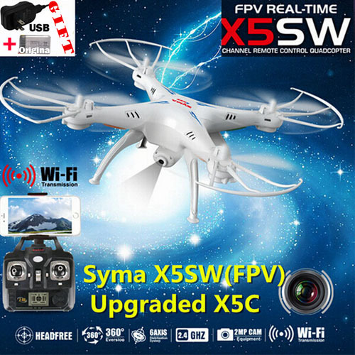 SYMA X5SW FPV With 2 MP Camera WIFI RC Drone FPV Quadcopter 2.4G 6-Axis Syma