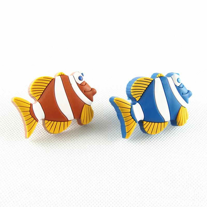 Tropical fish kids dresser knobs pulls children drawer for Children s bureau knobs