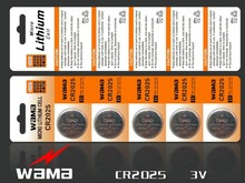 5x Wama CR2025 BR2025 2025 DL2025 ECR2025 KCR2025 LM2025 Li-ion Lithium 3V Button Cell Coin Battery Car Remote