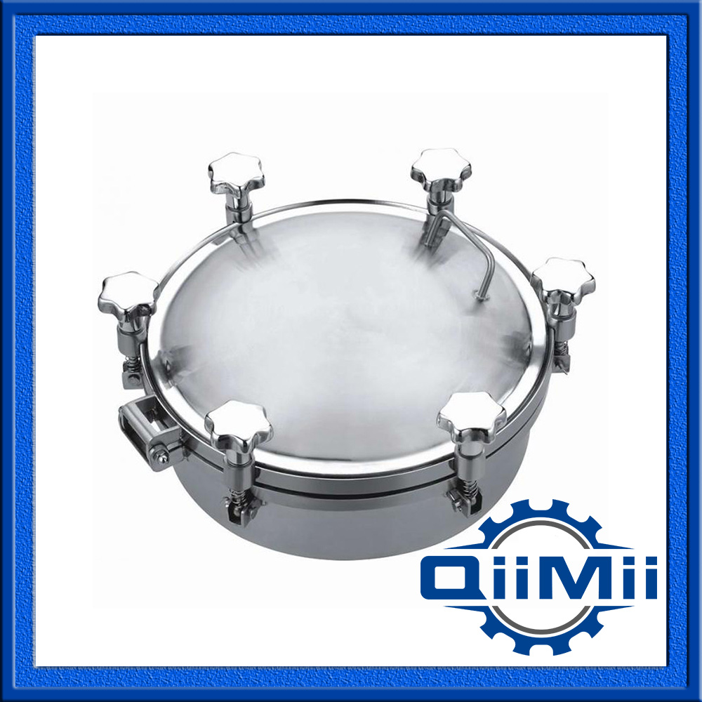 350mm SS316 stainless steel manhole cover,manway cover, Height:100mm(China (Mainland))