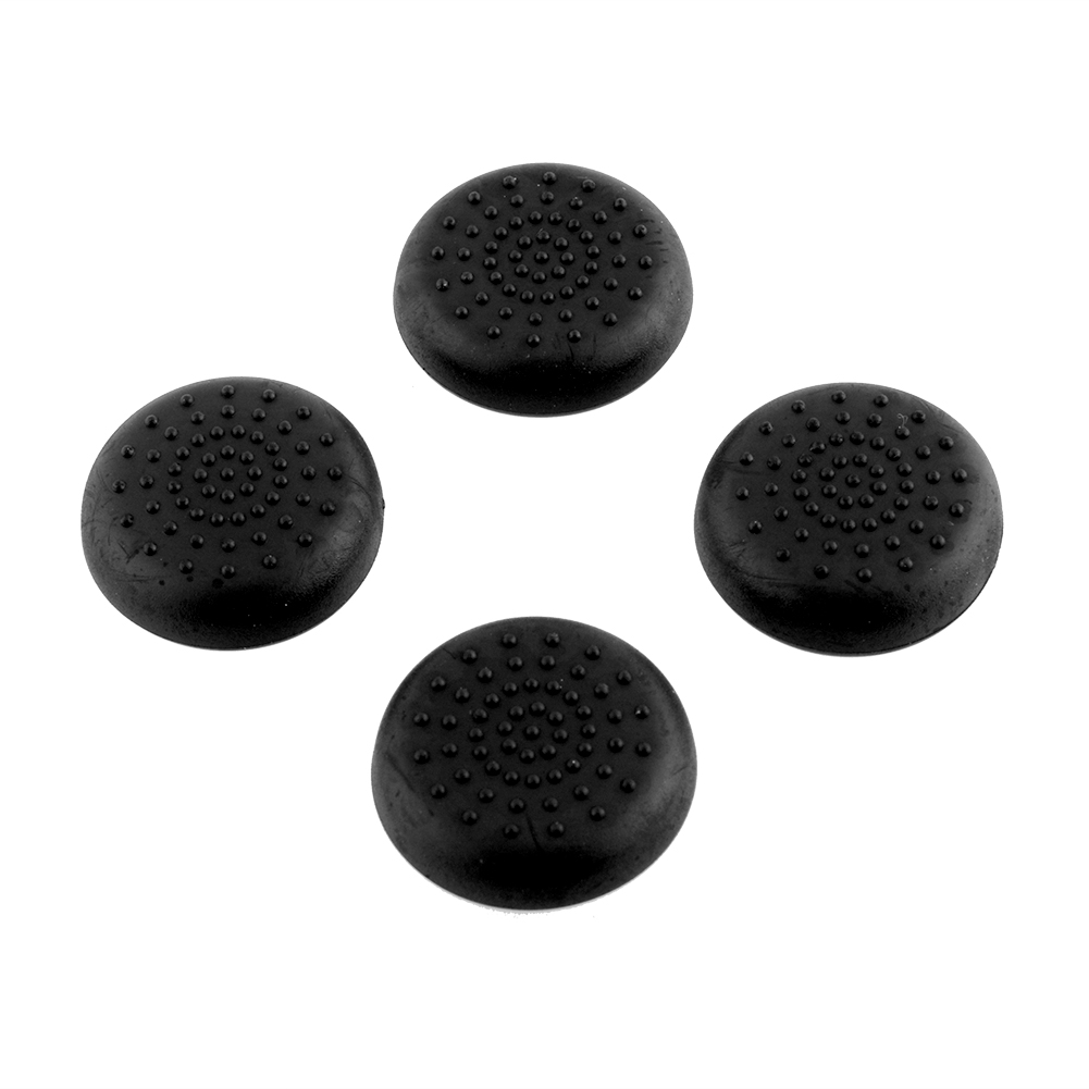 Hot 4x Rubber Silicone Thumbstick Joystick Grips Cover Case For Sony PlayStation 4 PS4 Controllers Black