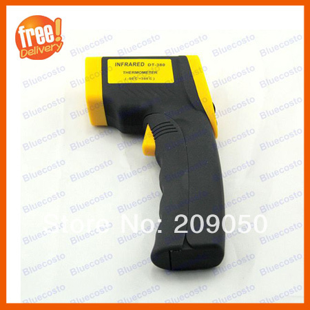High quality Digital IR Laser Point Non-Contact LCD Thermometer,-50-380 degree,wind temperature range industry useful