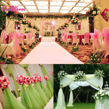 Buy Hotsale! 10m x 1.5m Organza Sheers Fabric Wedding Chair Covers White Organza Fabric Roll Wedding Decoration Event Party Supplies for $7.98 in AliExpress store