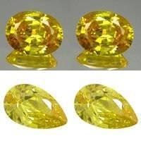 Fashion CZ jewelry beads! AAAAA Oval cut Yellow Citrine Cubic Zirconia stones4*6mm(China (Mainland))