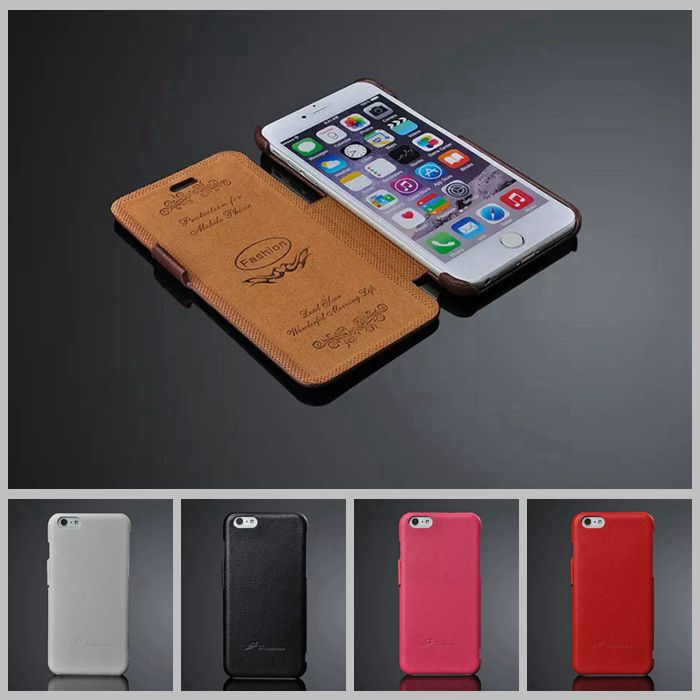 Litchi genuine leather case vans for iphone 6 flip capa para for apple iphones6 4.7 ultra slim cover luxury business carcasas(China (Mainland))