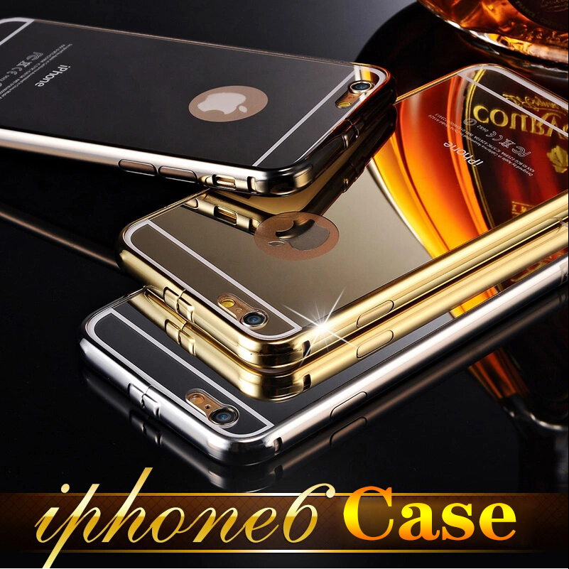 HOT Sell for Apple iPhone6plus 5.5'' Luxury Aluminum Metal case covers for iPhone6 4.7inch Acrylic Mirror cell Phone Accessories(China (Mainland))