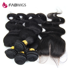 Brazilian Virgin Hair with Closure Unprocessed Human Hair Weave 4 Bundles with Lace Closure Brazilian Body Wave with Closure(China (Mainland))