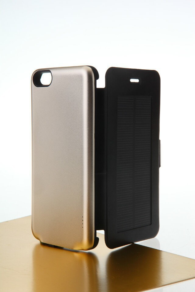 2800mAh Solar Power Charger For Iphone 6plusExternal Backup Battery Case Rechargeable Cover Portable Power Bank For iPhone6 plus(China (Mainland))