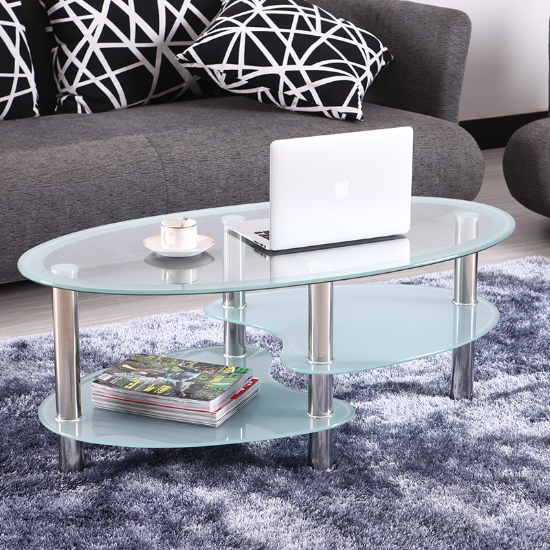 Table Glass Oval Coffee Table Small Apartment 2013 In Metal Tables