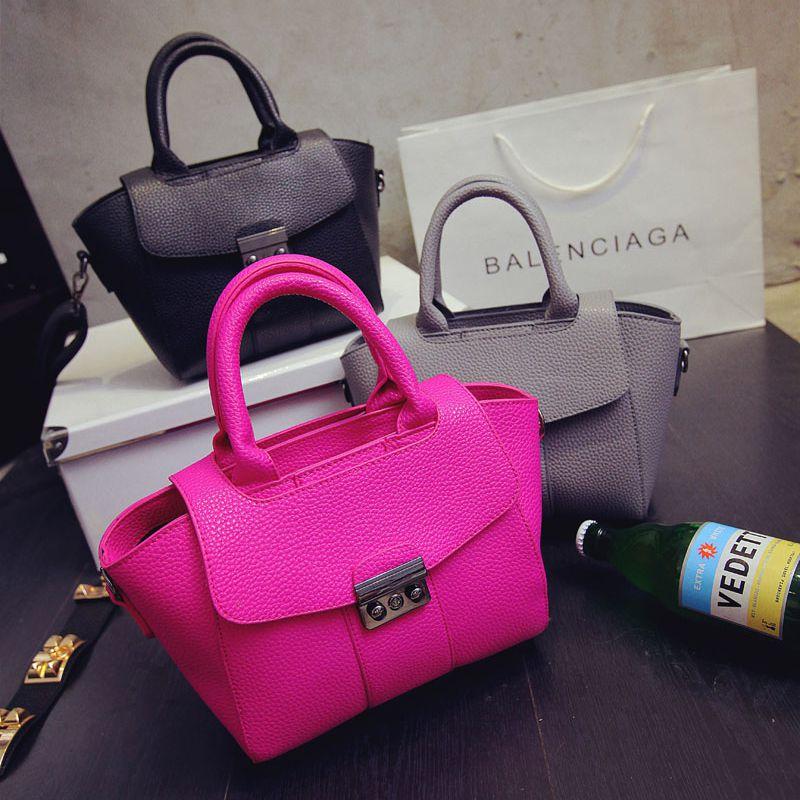 Bags 2015 women's handbag portable lockbutton small bag Women messenger bag guy gift beauty women bags hot useful lady office(China (Mainland))