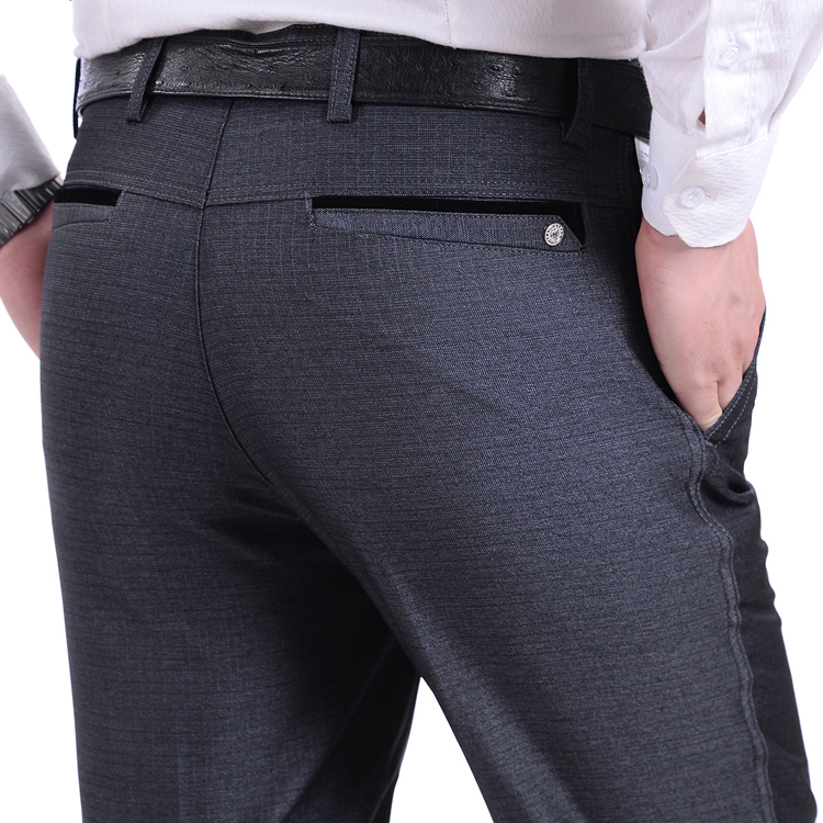 2016 Winter Thicken Men's Suit Pants Cashmere High quality Wool Trousers Straight Business Formal For Man Big Size Easy Care(China (Mainland))
